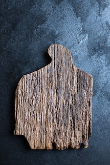 Wooden cutting board or empty serving dishes kitchen original form handmade craft cutlery wood