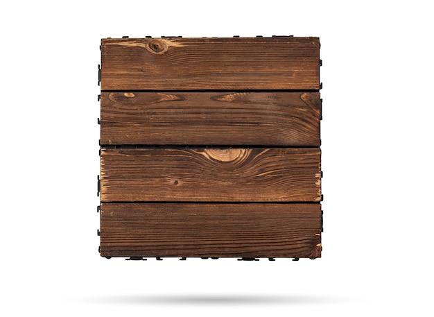 Деревянная палубная плитка на изолированном белом фоне