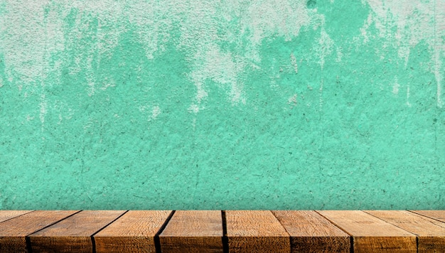 Деревянный счетчик стола полки доски дисплея с космосом экземпляра для рекламного фона