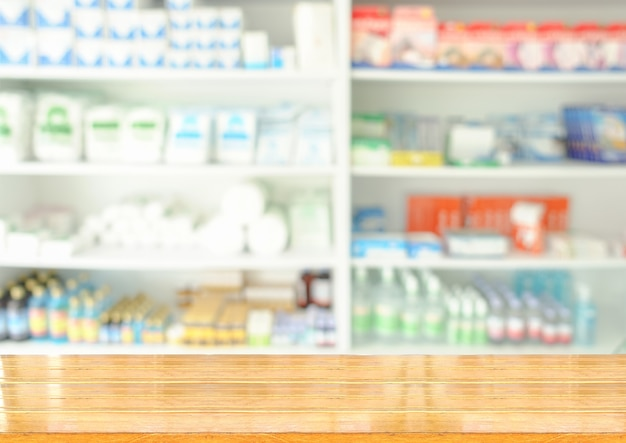 Wooden drug store