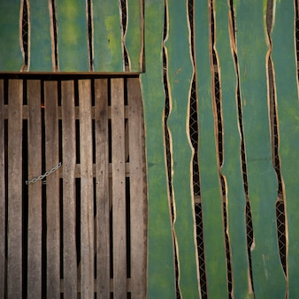 Wooden fence in costa rica