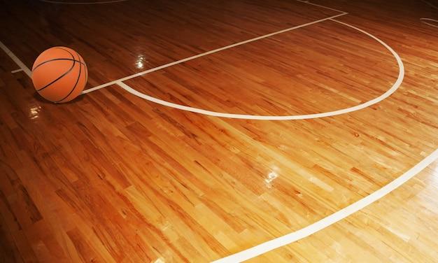 농구 코트의 나무 바닥