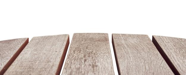 白い背景の上の木の床