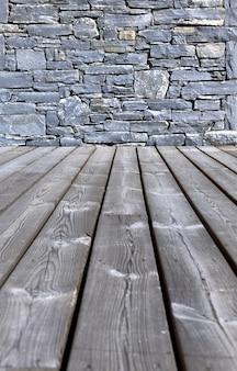 Wooden floor  on terrace