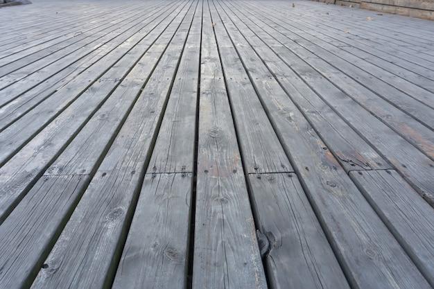 Vista sul pavimento in legno