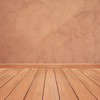 Wooden floor with brown marble background