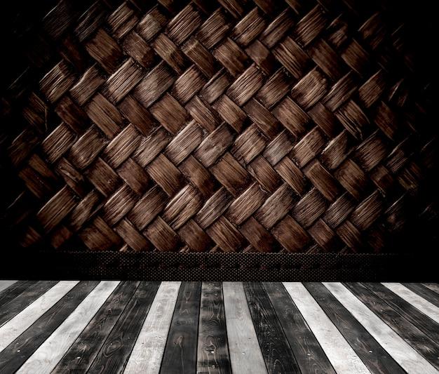 패턴 배경으로 나무 바닥