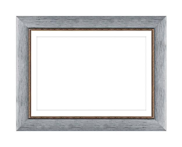 クリッピングパスと白い背景で隔離の写真や写真の木製フレーム