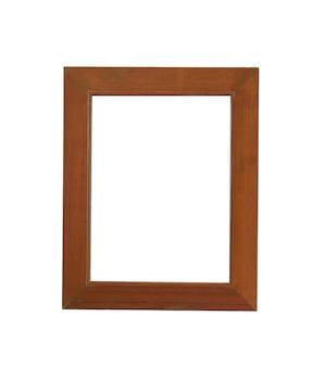 木製フレーム画像は白で隔離され、クリッピングパスがあります。