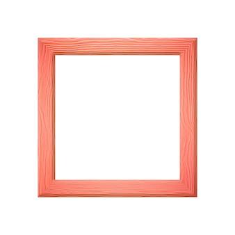 あなたの仕事のconcrptの室内装飾のデザインのために白い背景で隔離される木製のフレームの写真。