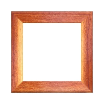 Wooden frame picture isolated on white background for design in your work concrpt interior decoration.