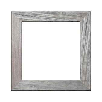 Wooden frame picture isolated on white