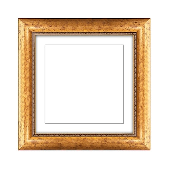 Wooden frame for picture or photo isolated on a white background with clipping path