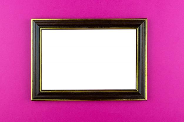 Wooden frame pink background
