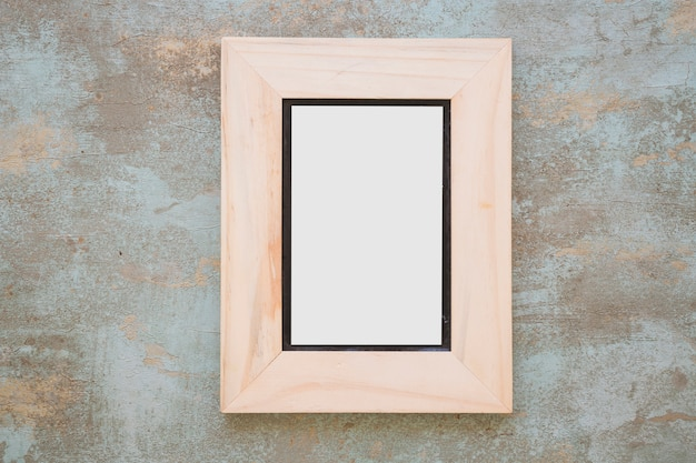 Wooden frame on rustic background