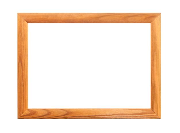 Wooden frame, wooden framework. photo frame isolated on white background