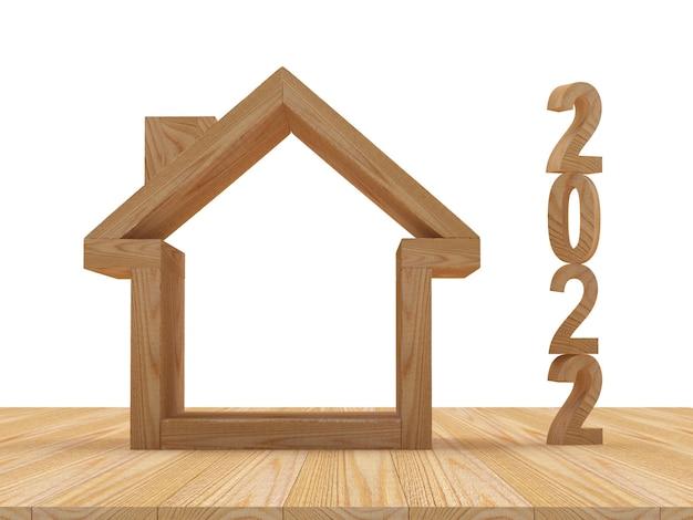 Икона деревянный дом с числами нового года