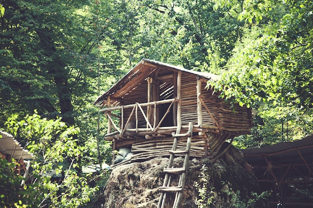 アルメニアの森の木造住宅