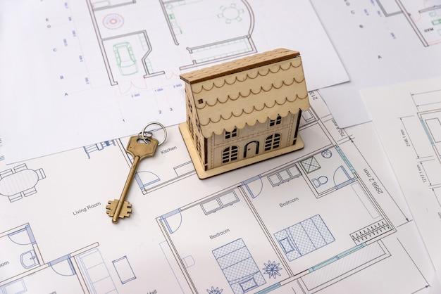 家の計画の鍵と木造住宅モデル