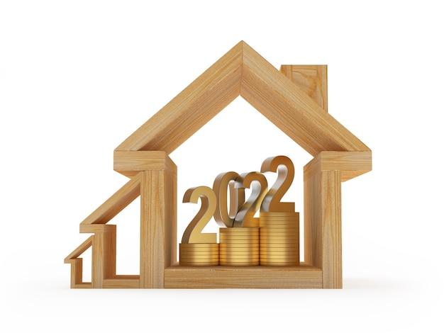 Деревянные дома иконки с количеством нового года и монет внутри