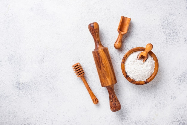 Wooden kitchen utensils from olive wood