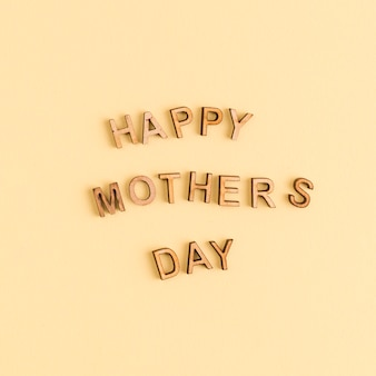 Wooden letters happy mothers day