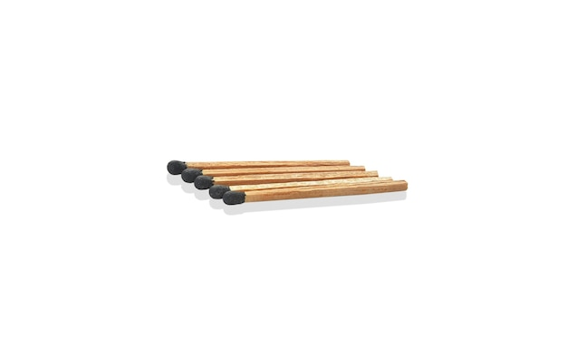 Wooden match close up isolated