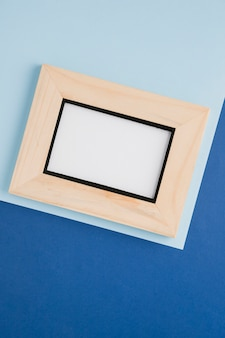 Wooden minimalist frame in diagonal
