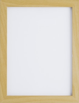 Wooden minimalist frame with empty space