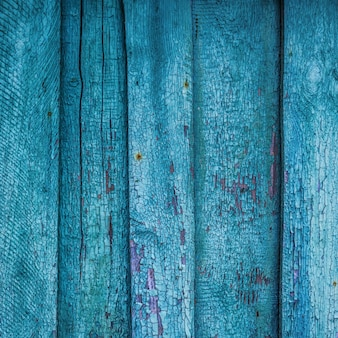 Wooden old antique background from ramshackle blue boards