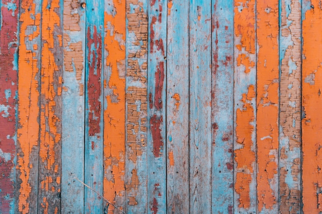 Wooden old fence