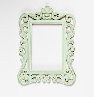 Wooden old mint ornamental frame