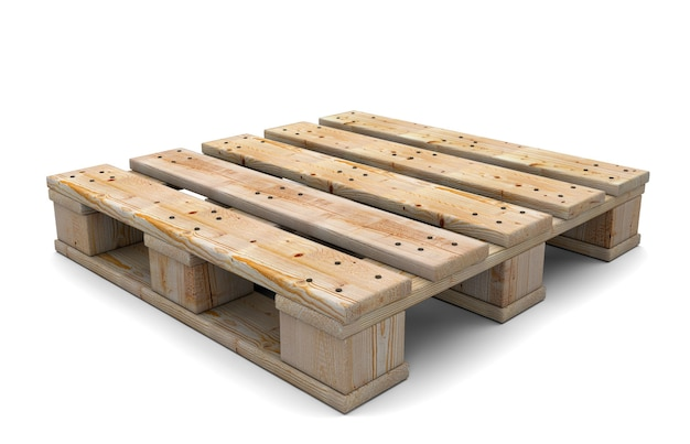 Wooden pallet isolated on white