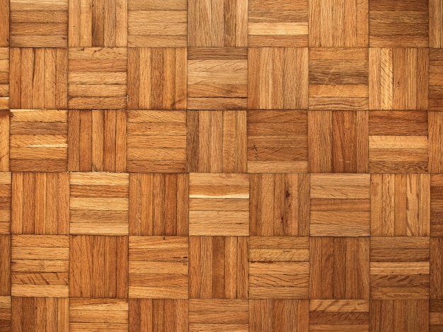 Wooden parquet floor