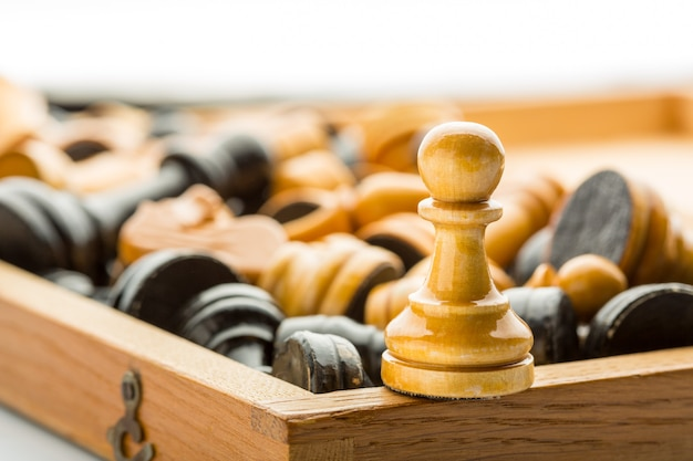 Wooden pawn