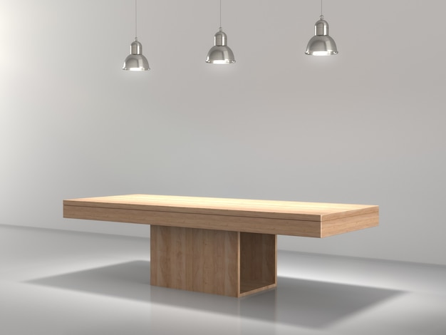 Wooden pedestal for product showing in empty.