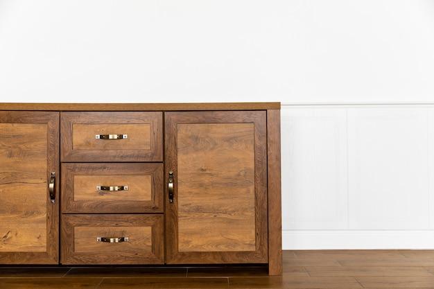 Wooden piece of furniture interior design