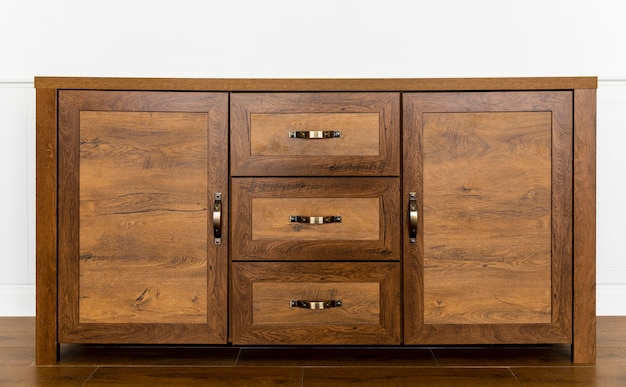 Wooden piece of furniture interior
