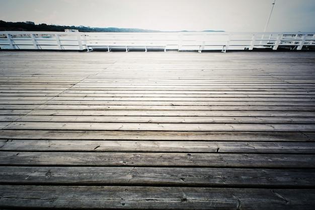 Wooden pier in sopot, poland.