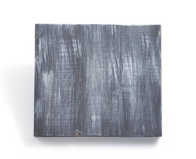 흰색 배경에 고립 된 나무 판자 패널