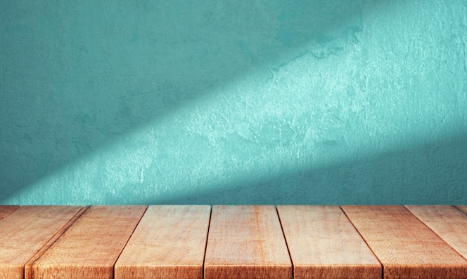 Wooden planks over bright background