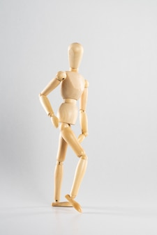 Wooden pose doll posed like walking