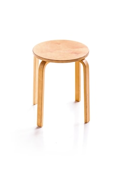 Wooden round chair for home decoration