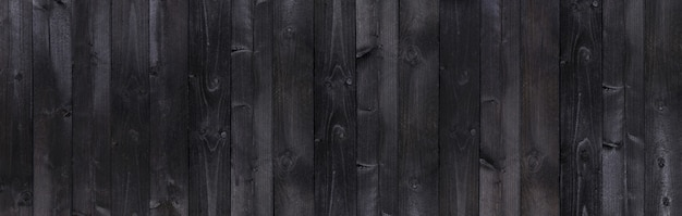 Wooden rustic black planks texture background