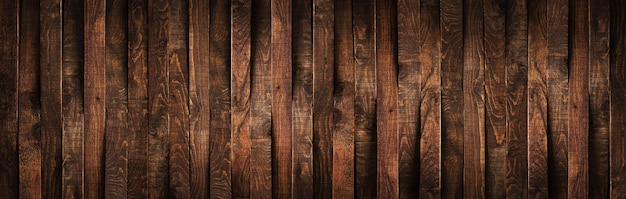 Wooden rustic brown planks