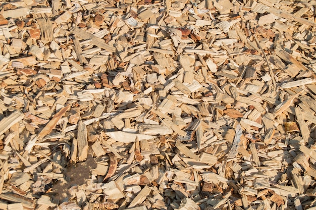 Wooden shavings chips, natural material pattern