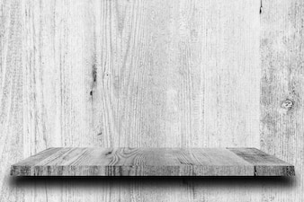 Wooden shelf and white backgrounds