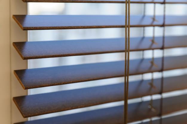 Wooden shutters on the window.