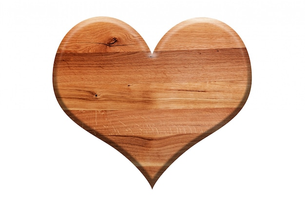 Wooden sign shaped heart