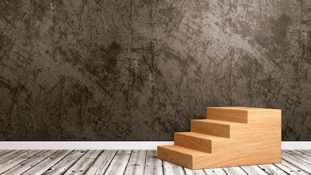 Деревянная лестница в комнате
